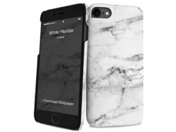Capa I-PAINT Hard iPhone 8 / 7 White Marble — Compatibilidade: iPhone 8 / iPhone 7