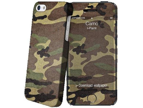 Capa I-PAINT HARD+SKIN iPhone5/5S/SE CAMO — Compatibilidade: iPhone 5/5s/SE