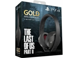 Auscultadores Gaming sem Fios SONY Gold: The Last of Us II (Limited Edition - PS4)