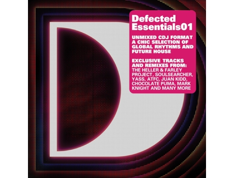 CD Vários - Defected Essentials 01 — House / Electrónica