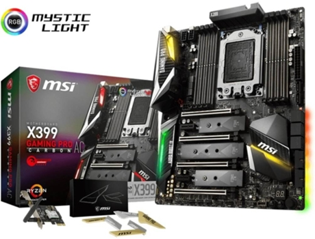 Motherboard MSI X399 Gaming Pro Carbon AC — AM4 | X399