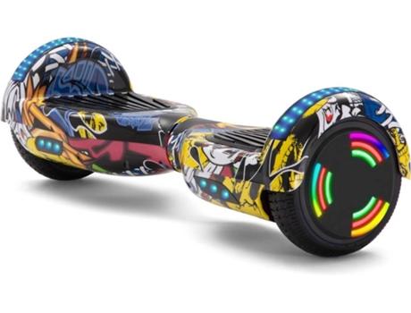 Hoverboard E Rides Graffiti Amarelo Velocidade Máx 12 Km H Worten Pt