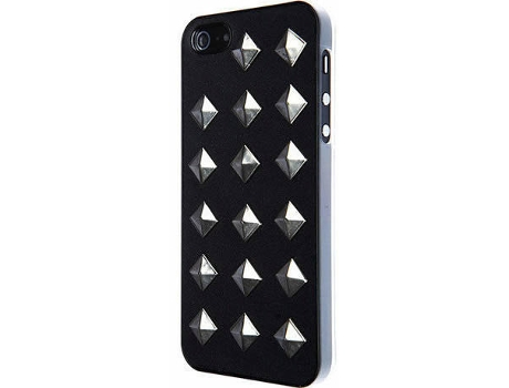 Capa VCUBED3 Metal Rhombus iPhone 5, 5s, SE Preto — Compatibilidade: iPhone 5, 5s, SE