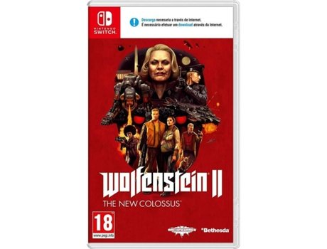 Jogo Nintendo Switch Wolfenstein II: The New Colossus — FPS | Idade mínima recomendada: 18