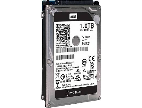 Disco interno 2.5'' WD 1TB Caviar Black — 2.5'' / 1 TB / SATA 6 Gb/s