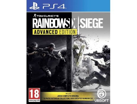 Jogo PS4 Tom Clancy's Rainbow Six Siege (Advanced Edition) — FPS | Idade mínima recomendada: 18