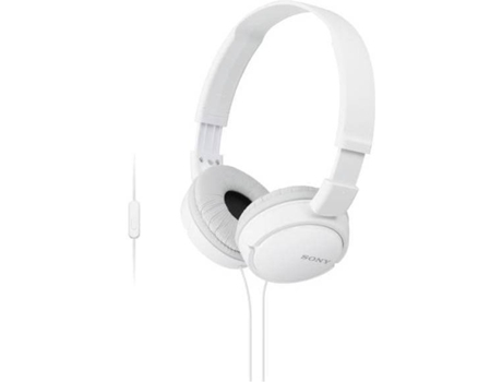 Auscultadores Com fio SONY MDR-ZX110 (On Ear - Microfone - Branco) — On Ear | Microfone | Atende chamadas