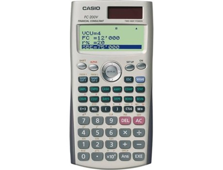 Calculadora Financeira CASIO FC200V — Calculadora / Financeira