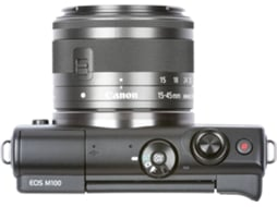 Máquina Fotográfica Mirrorless CANON EOS M100 (24.2 MP - Sensor: APS-C - ISO: 100 a 25600) — 24.2 MP  | ISO: ate 25600