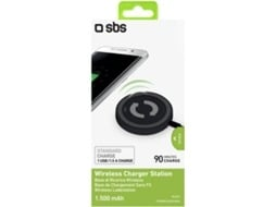 Carregador Wireless SBS Tecnologia QI Preto — Carregador wireless | Compativel com tecnologia QI