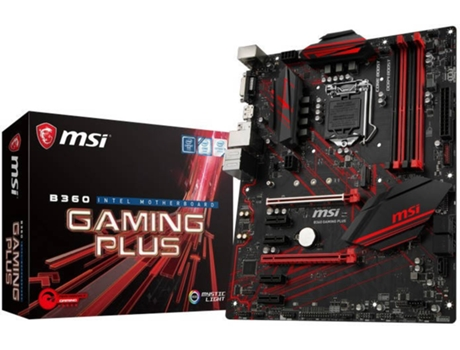 Motherboard MSI B360 Gaming Plus — LGA1151 | B360