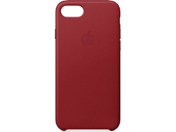 Capa APPLE Leather iPhone 7, 8 Vermelho — Compatibilidade: iPhone 7, 8