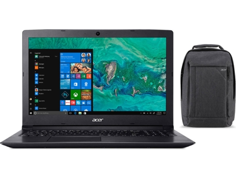 Pack ACER Aspire 3 (Portátil A315-53-85L + Mochila NP.BAG1A.278) — Windows 10 Home | HD
