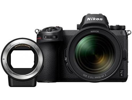 Kit Máquina NIKON Z6 + 24-70MM + Adaptador FTZ — 24.5 MP | ISO: 100 - 51200