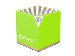 Coluna BT+DVD BLING Rhythm Box Green — Bluetooth | 3W | Bateria: até 6h