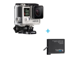 Action Cam GOPRO Hero 4 Preto — 4K | Wi-Fi |  Bluetooth | Até 3 h