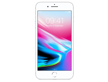 Smartphone APPLE iPhone 8 Plus 64GB Prateado — iOS 11 / 5.5'' / A11