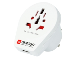 Adaptador de Viagem SKROSS World to UK USB — Reino Unido | 3250 W | 1 porta USB