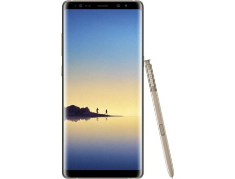 "Smartphone SAMSUNG Galaxy Note 8 64 GB Dourado  Dual Sim — Android 7.1.1 / 6.3""/ Octa-Core 2.3 GHz + 1.7 GHz"