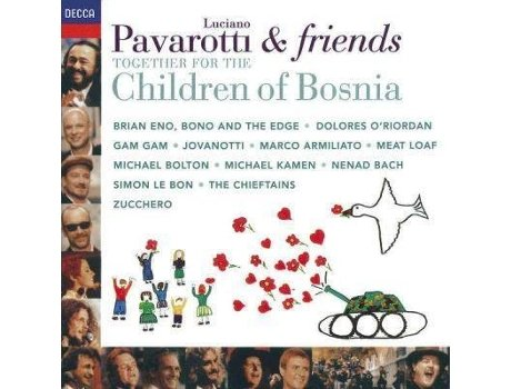 CD Pavarotti & Friends - Together For The Children of Bosnia — Clássica