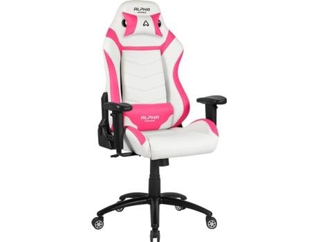 Cadeira gaming alpha gamer gamma rosa e branco for Silla gamer oferta