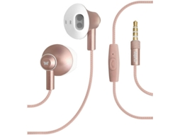 Auricular SBS 3.5 mm Rose Gold — Com fios | 3.5 mm