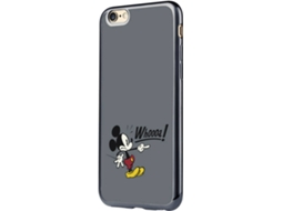 Capa TPU DISNEY Mickey Mouse whoo iPhone7  Preto — Compatibilidade:  iPhone7