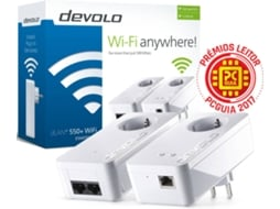 POWERLINE DEVOLO DLAN550+ WIFI N300 STARTER KIT PT-9840 — 550 Mbps