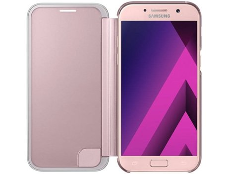 Capa Clear View SAMSUNG A5 2017 Rosa — Compatibilidade: A5 2017