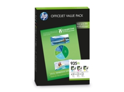 Pack Combo HP 935XL Cores e Papel A4 (F6U78AE) — Cores | XL