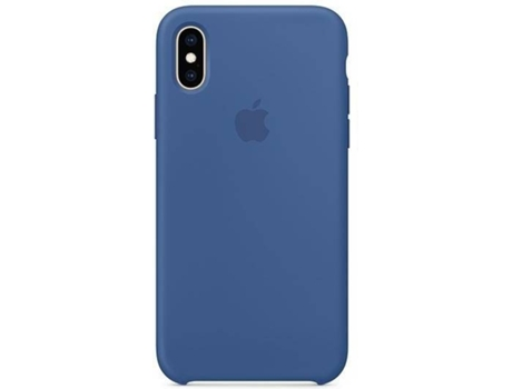 Capa APPLE iPhone XS Silicone Azul