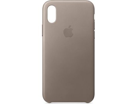 Capa APPLE Leather Tauple iPhone X Castanho — Compatibilidade: iPhone X