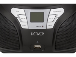 Rádio Boombox DENVER TCU-206 BLK — Digital