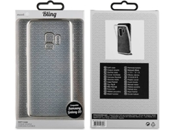 Capa MUVIT LIFE Bling Samsung Galaxy S9 Transparente — Compatibilidade: Samsung Galaxy S9
