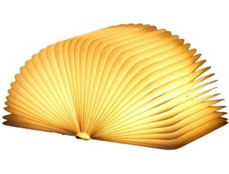 Candeeiro Decorativo HSLA Livro (Amarelo - Madeira)