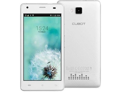 Smartphone CUBOT Echo 16GB Branco — Android 6.0 / 5.0'' / MTK6580 Quad Core 1.3GHz