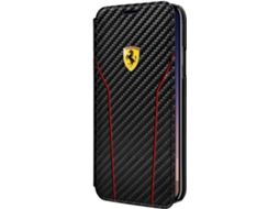 Capa FERRARI Fribra Carbono iPhone X Preto — Compatibilidade: iPhone X