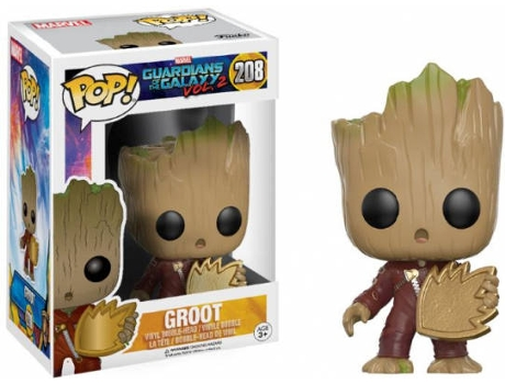 Figura Vinil FUNKO POP! : Guardians of the Galaxy - Groot with Shield — Marvel