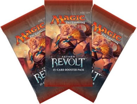 Pack Cartas Magic The Gathering - Aether Revolt Blister (3) — 3 Packs