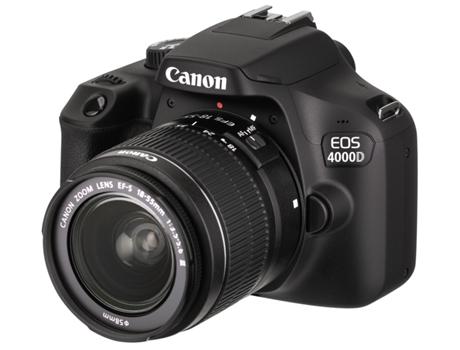 Kit Máquina Fotográfica Reflex CANON EOS 4000D +18-55MM (18 MP - Sensor   APS-C - ISO  100 a 6400) 2b24f2e6ac59