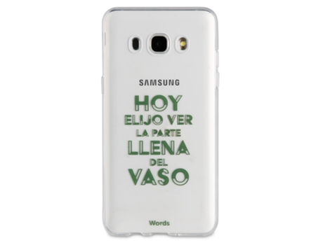 Capa WORDS Vaso Samsung Galaxy J5 2016 Multicor — Compatibilidade: Samsung Galaxy J5 2016