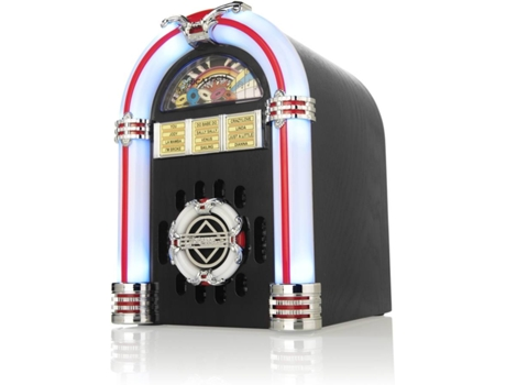 Jukebox RICATECH Table-Top RR340 Preto — Velocidade: 33-45-78 rpm