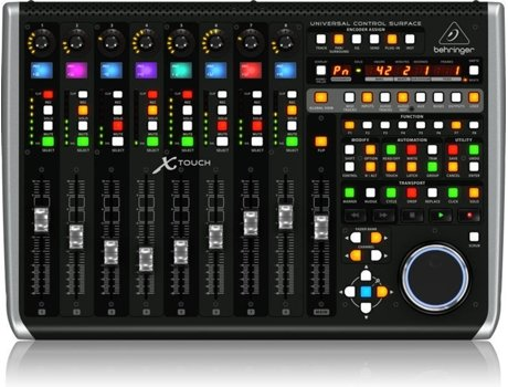 Interface AUD BEHRINGER X-TOUCH — Superfície de controle universal DAW com faders sensíveis interface ethernet