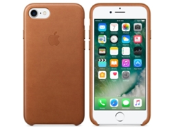 Capa APPLE iPhone 7 Leather Castanho — Compatibilidade: iPhone 7