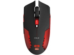 Rato Gaming E-BLUE COBRA II RED — Com Fios