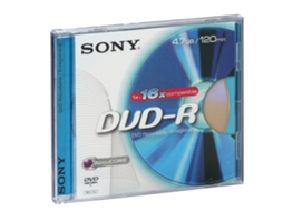 DVD-R SONY 4.7 — 4.7 GB | 16x | 1 unid.