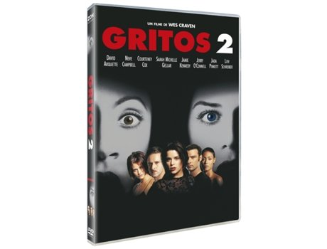 DVD Gritos 2 — De: Wes Craven | Com: Neve Campbell,Courteney Cox,David Arquette,Drew Barrymore,Liev Schreiber,Heather Graham