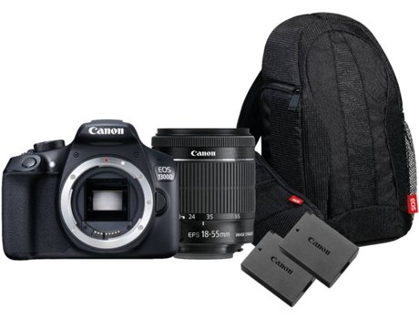 Pack Máquina Fotográfica CANON EOS 1300D 18-55 IS — 18 MP / ISO Auto ate 6400