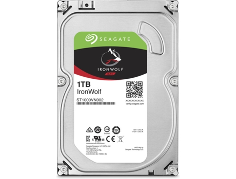Disco interno 3.5'' Seagate IRONWOLF 1TB — 3.5'' | 1 TB | Serial ATA III