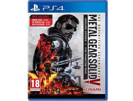 Jogo PS4 Metal Gear Solid V - The Definitive Experience — Ação/Aventura / Idade mínima recomendada: 18